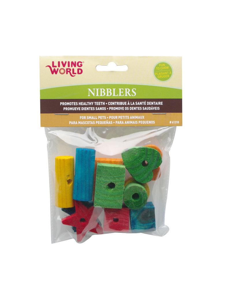 LIVING WORLD Living World Nibblers Wood Chews - Shapes Mix