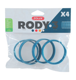 ZOLUX Zolux Rody3 Connector Ring 4pk ,Blue
