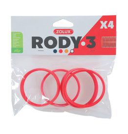 ZOLUX Zolux Rody3 Connector Ring 4pk, Grenadine