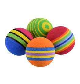 A.T. PET PRODUCTS AT Rainbow Foam Ball - 4 pk