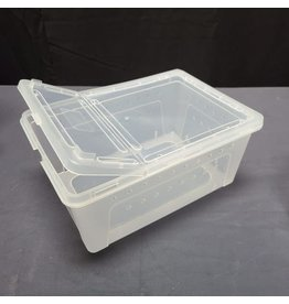 HINGED LID REPTILE STACKABLE BOX MED