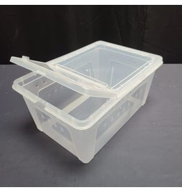HINGED LID REPTILE STACKABLE BOX LG