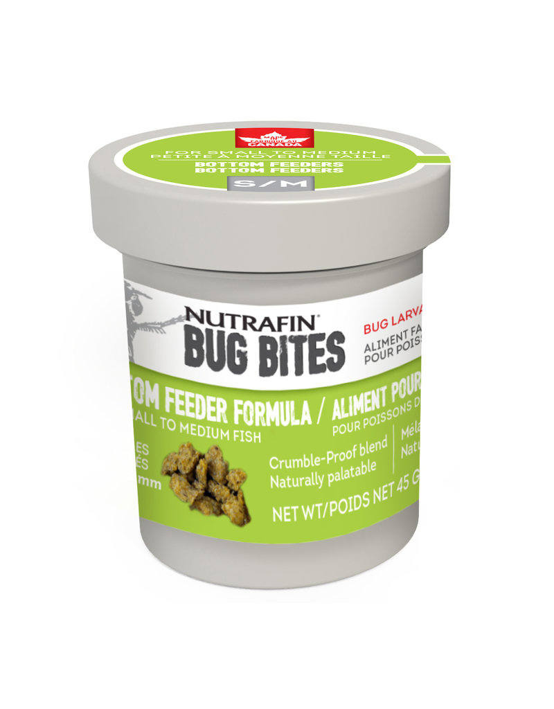 NUTRAFIN Nutrafin Bug Bites Bottom Feeder Small-Medium 1.4-1.6mm Granules for Corys, Loaches and Wide Mouth Catfish