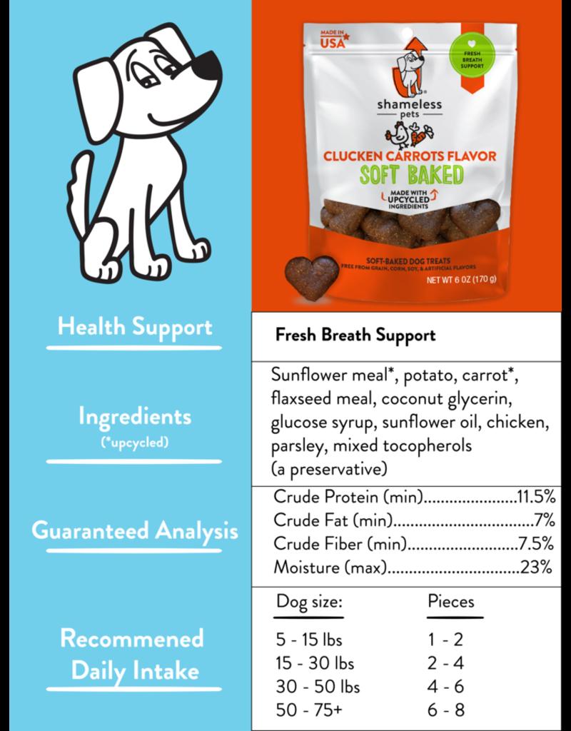 SHAMLESS PETS Back  Shameless Pets Soft-Baked Biscuit 170g- Clucken' Carrots