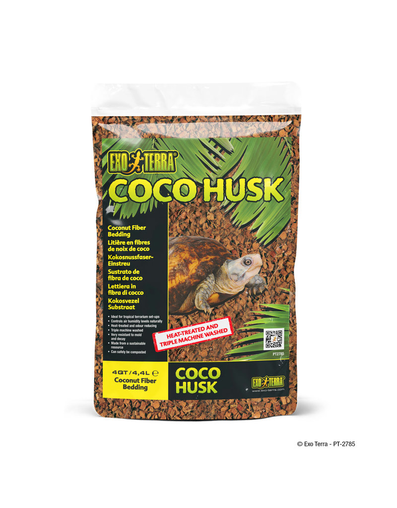 EXO TERRA (D) Exo Terra Coco Husk - Bag - 4 qt (4.4 L)