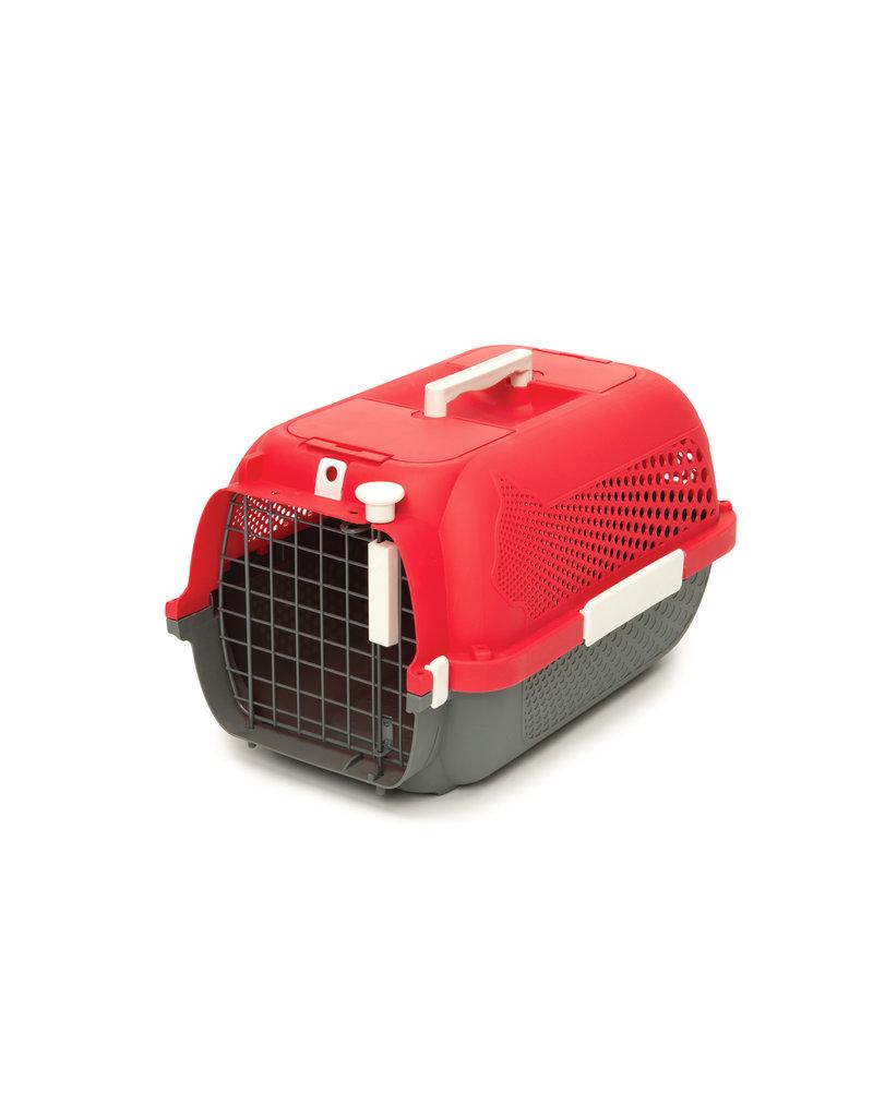 CAT IT Catit Cat Carrier - Small - Cherry Red - 48.3 L x 32.6 W x 28 H cm (19 x 12.8 x 11 in)