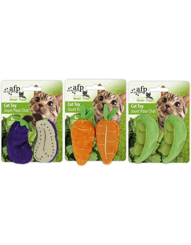 AFP All for Paws - Green Rush All Natural - Assorted (Eggplant/Carrot/Peas) - 2 pack