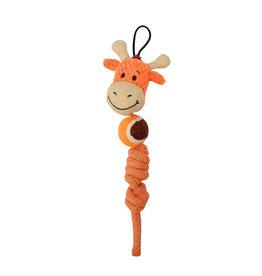 Zeus Mojo Naturals Tennis Rope Tug - Elephant or Giraffe - Assorted - 23 cm (9 in)