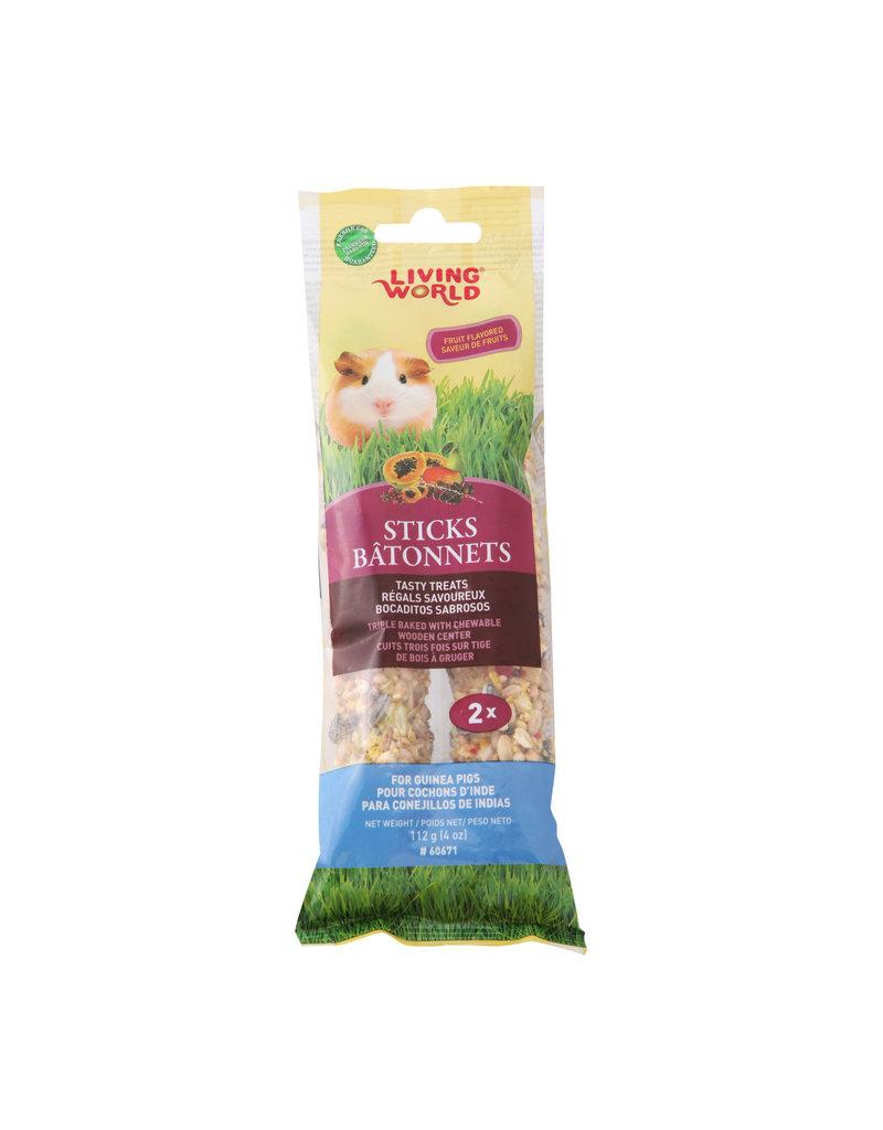 LIVING WORLD Living World Guinea Pig Sticks - Fruit Flavour - 112 g (4 oz) - 2-pack