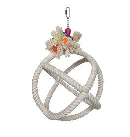 HARI HARI SMART.PLAY Enrichment Parrot Toy - Roper Orbiter Perch n Swing - Medium