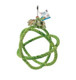 HARI HARI SMART.PLAY Enrichment Parrot Toy - Roper Orbiter Perch n Swing - Large