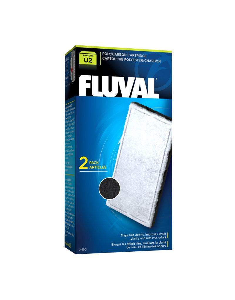FLUVAL Fluval U2 Poly/Carbon Cartridge,2pcs-V