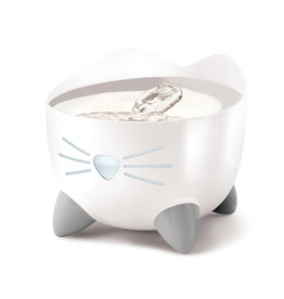 CAT IT Catit PIXI Fountain - White with Stainless Steel Top - 2.5 L