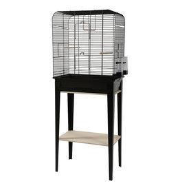 ZOLUX Zolux Chic Loft Cage & Stand - Large - Black - 53.5 x 33.5 x 64 cm