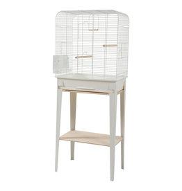 ZOLUX Zolux Chic Loft Cage & Stand - Large - White - 53.5 x 33.5 x 64 cm