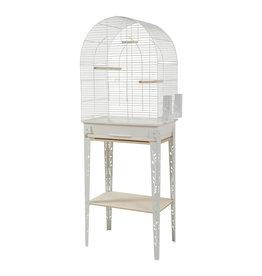 ZOLUX Zolux Chic Patio Cage & Stand - Large - White - 53 x 33 x 74 cm