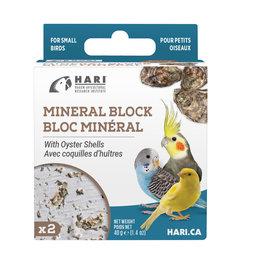 HARI HARI Mineral Block for Small Birds - Oyster Shells - 40 g - 2 pack