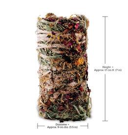 LIVING WORLD Living World Green Botanicals Hay Bale - Flowers - 200 g (7 oz)