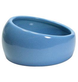 LIVING WORLD Living World Ergonomic Dish - Small - 120 mL (4.22 oz) - Blue/Ceramic