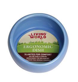 LIVING WORLD Living World Ergonomic Dish - Large - 420 mL (14.78 oz) - Blue/Ceramic