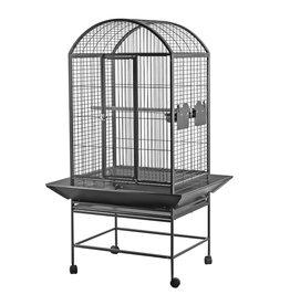 HARI HARI Dome Top Parrot Cage - Silver Antique Black - 71 L x 56 W x 159 H cm (28 in x 22 in x 62.5 in)