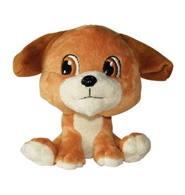 DOG IT Dogit Luvz Big Heads Plush Dog Toy, Brown Dog (15cm/6in)
