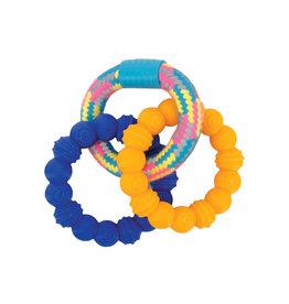 DOG IT Zeus Mojo Brights TPR & Rope Ring Tug - 16 cm (6.25 in)