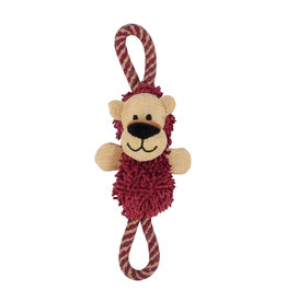 DOG IT Zeus Mojo Naturals Figure-8 Rope Tug - Lion & Rhino - Assorted - 22 cm (8.5 in)