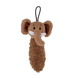 DOG IT Zeus Mojo Naturals Thin Noodle Tails - Elephant & Giraffe - Assorted - 19 cm (7.5 in)