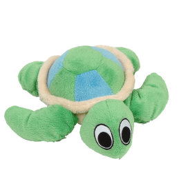 DOG IT Dogit inPuppy Luvzin Plush Dog Toy with Squeaker, Green Turtle
