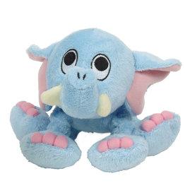 DOG IT Dogit inPuppy Luvzin Plush Dog Toy with Squeaker, Blue Elephant