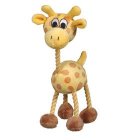 DOG IT Dogit inPuppy Luvzin Plush Dog Toy with Squeaker, Yellow Giraffe