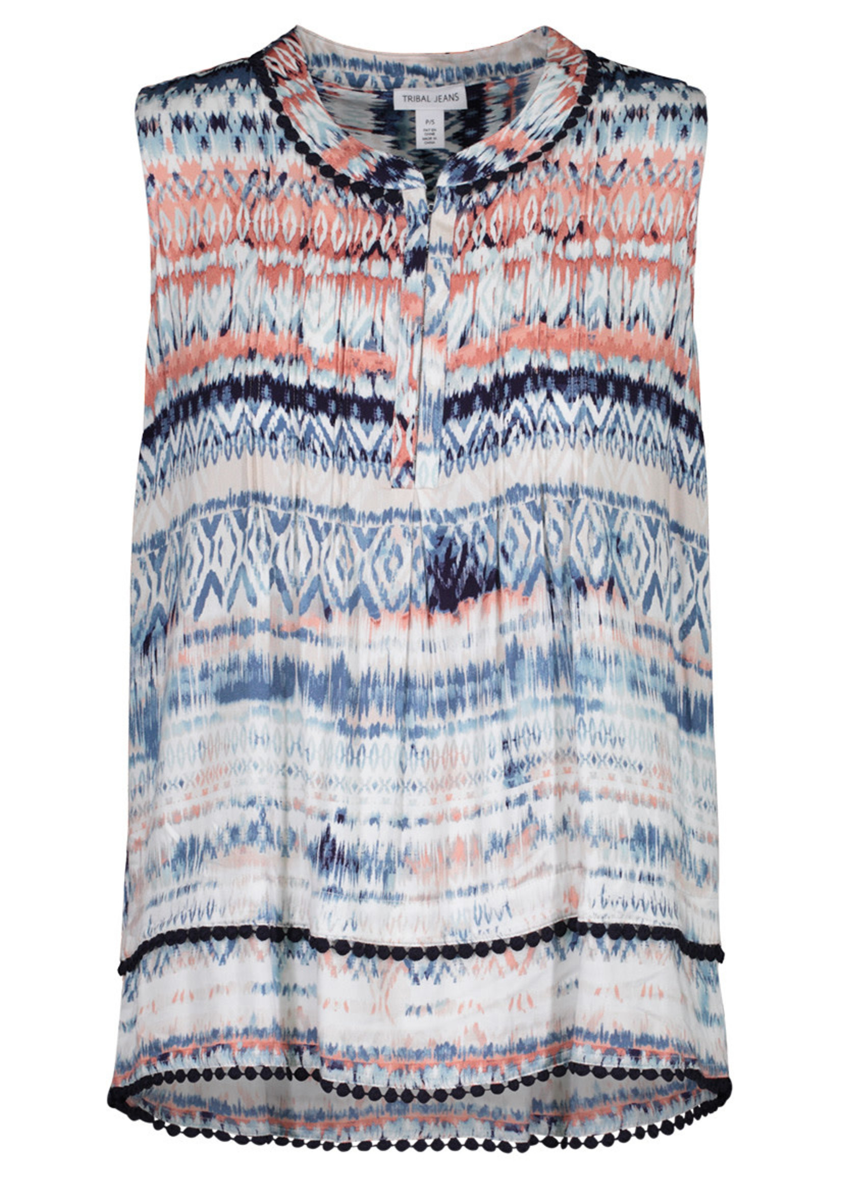 Tribal Tribal Top with Tucked Pleat