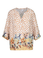 Tribal Tribal Roll Up Sleeve Blouse