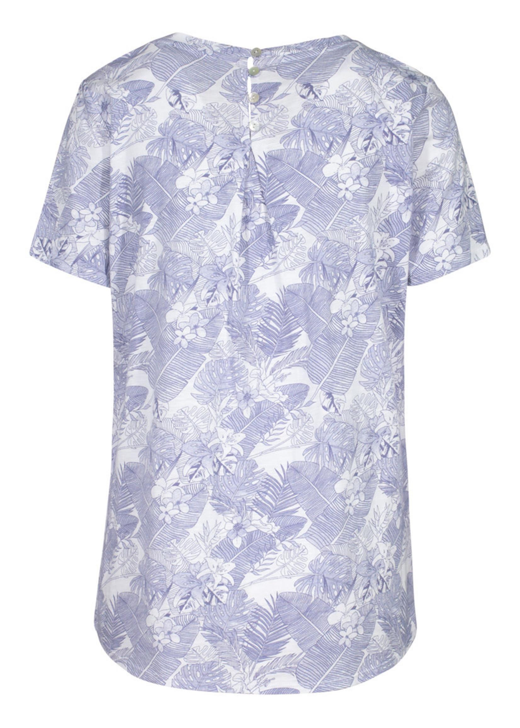 Tribal Tribal Short Sleeve T-Shirt W/Buttons Back
