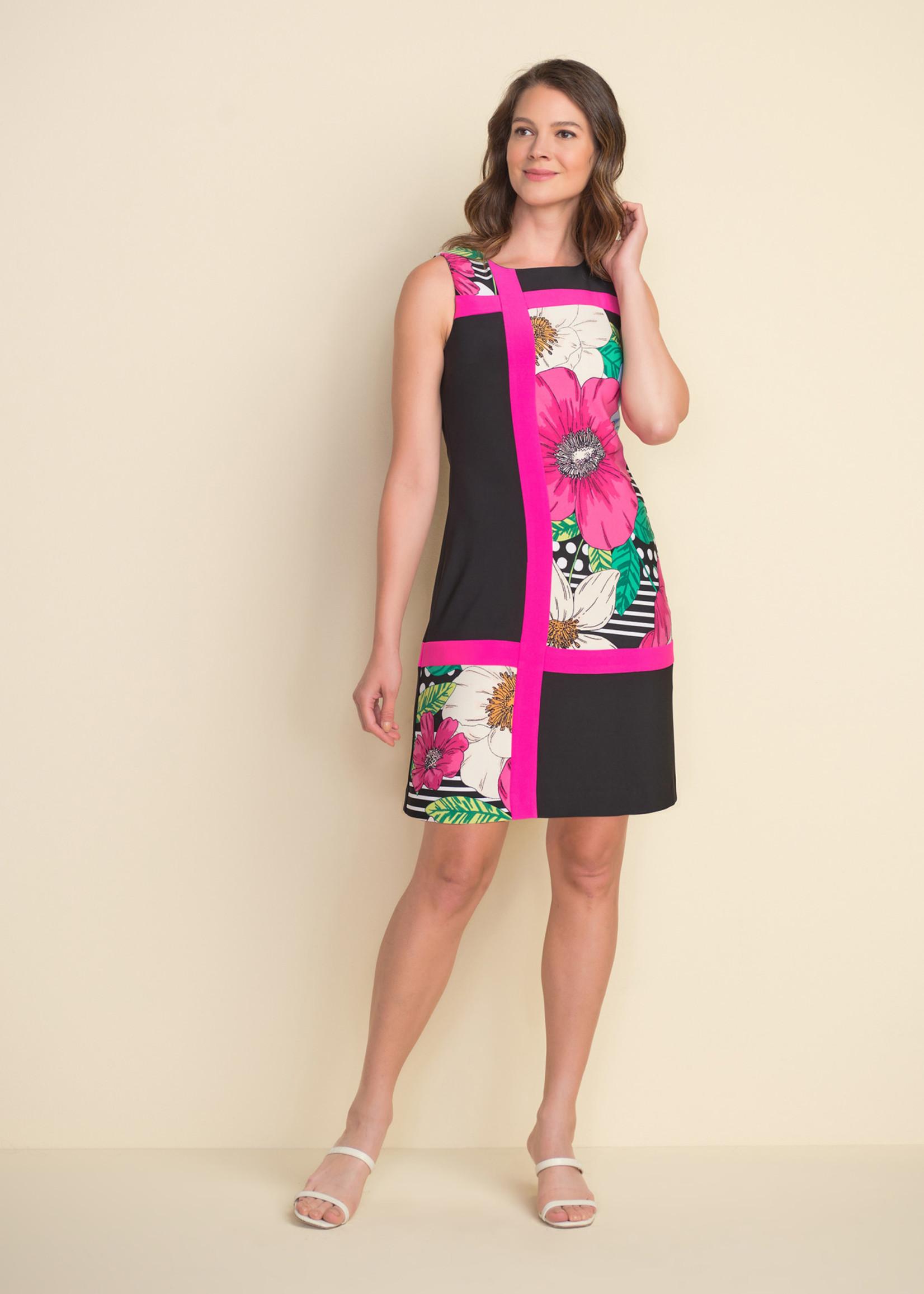 Joseph Ribkoff Joseph Ribkoff Floral Colour Block Dress Style