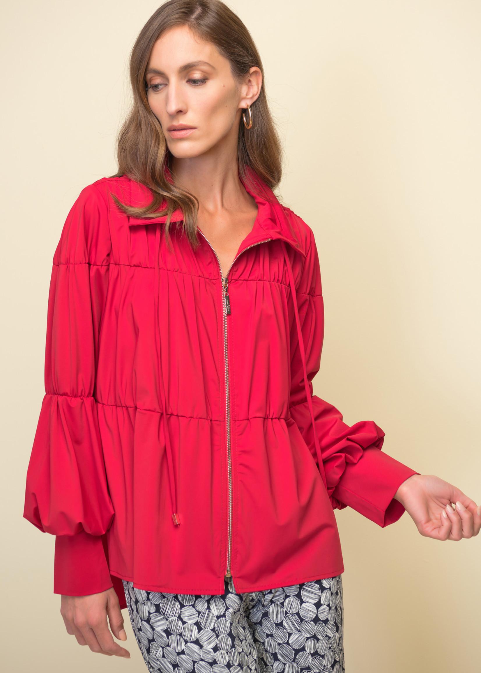 Joseph Ribkoff Joseph Ribkoff Red Puffed Sleeve Jacket