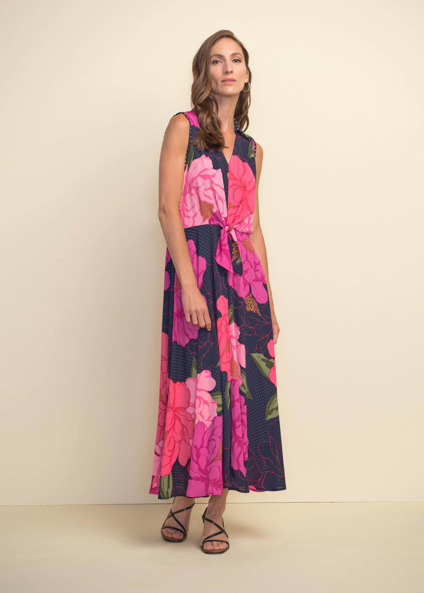 Joseph Ribkoff Joseph Ribkoff Floral and Polka Dot Dress