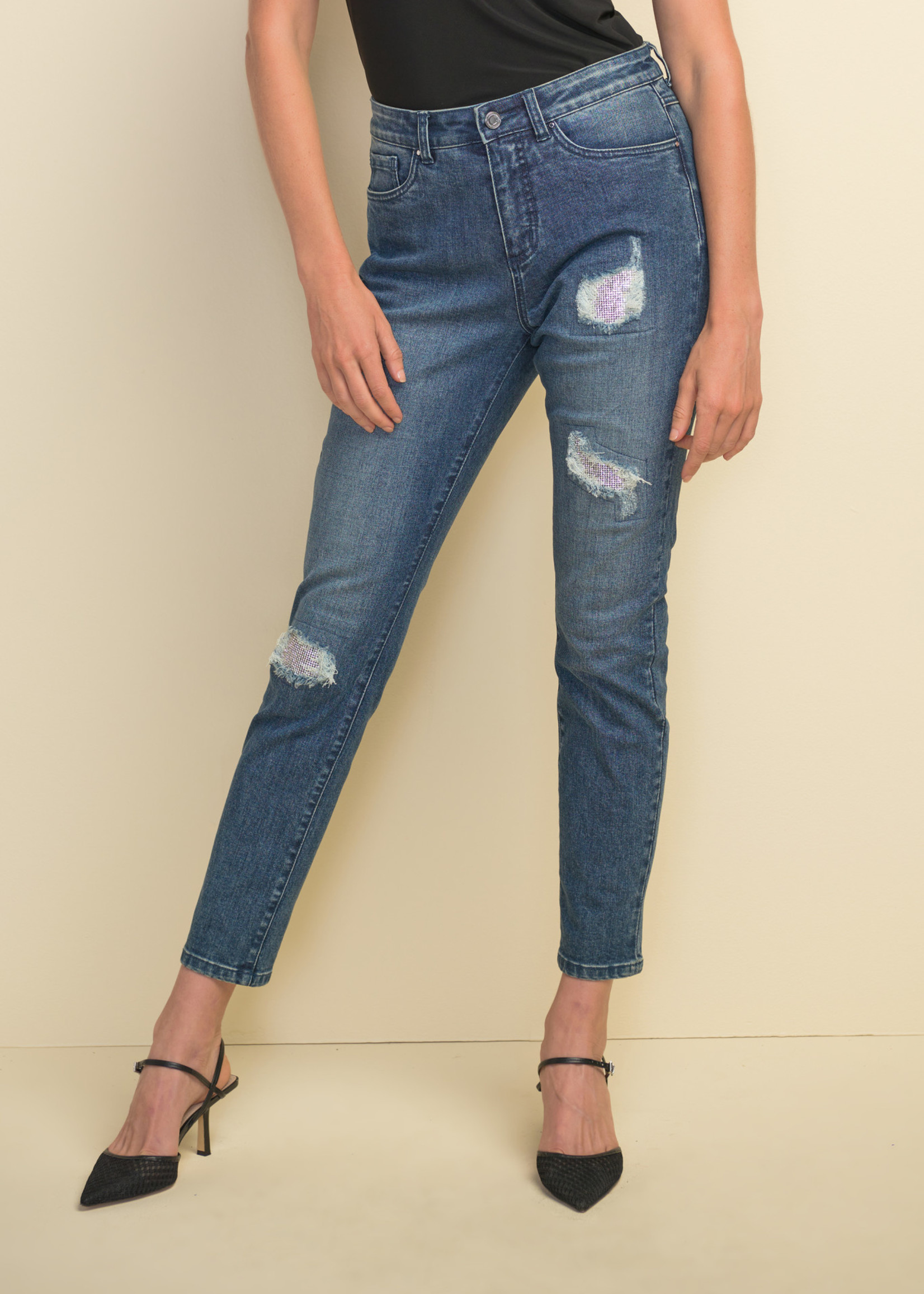 Joseph Ribkoff Joseph Ribkoff Jeans with Glitter Patch