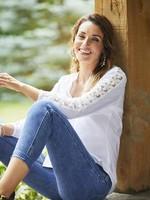 FDJ French Dressing FDJ Shirt 3-D Daisy Applique