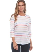 FDJ French Dressing FDJ Colour Striped Top With Button Detail