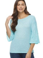 FDJ French Dressing FDJ Top W/Embroidered Flare Sleeve