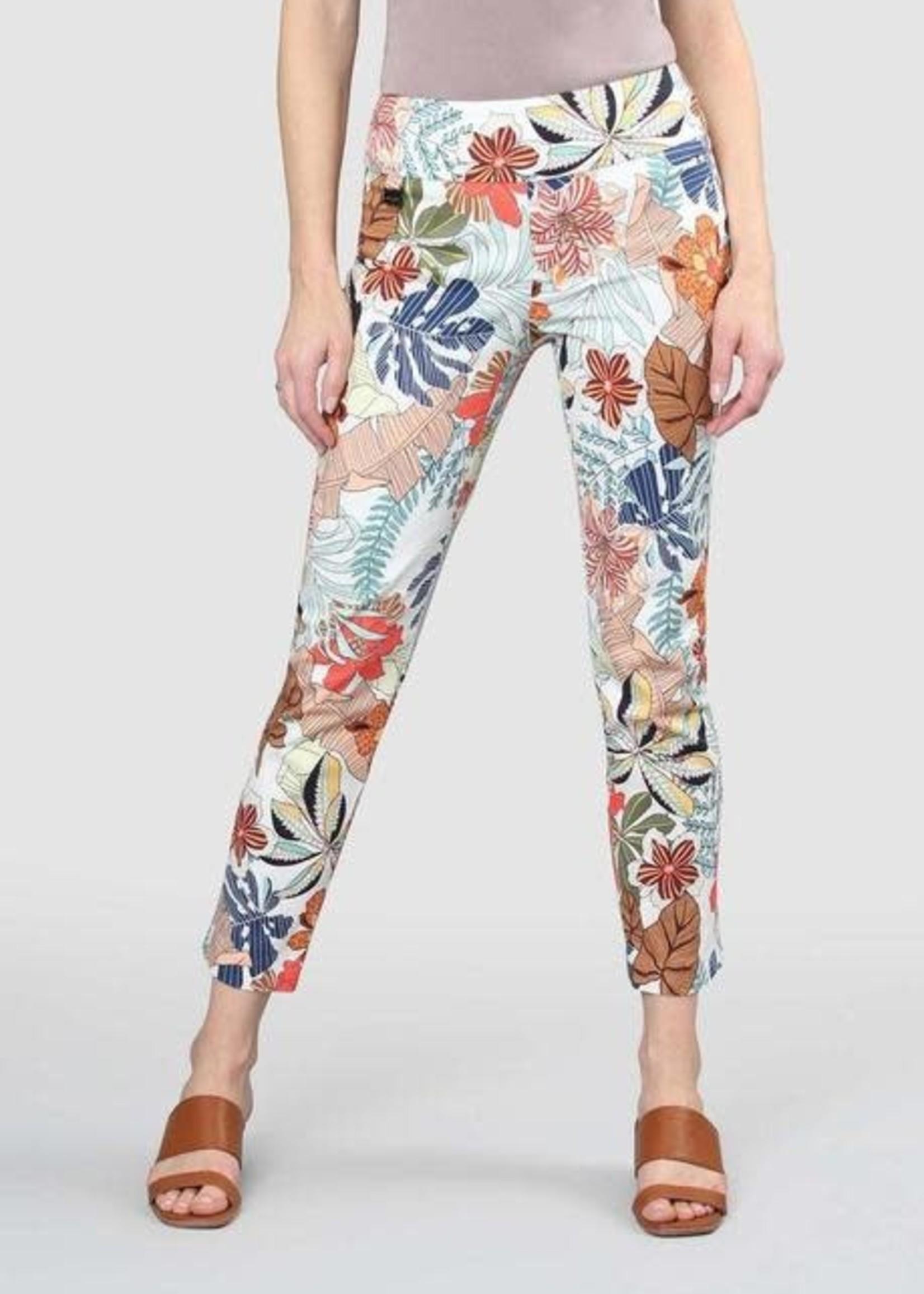 """Lisette L. Lisette L. Largo Palm Print 28"""" Ankle Pant"""