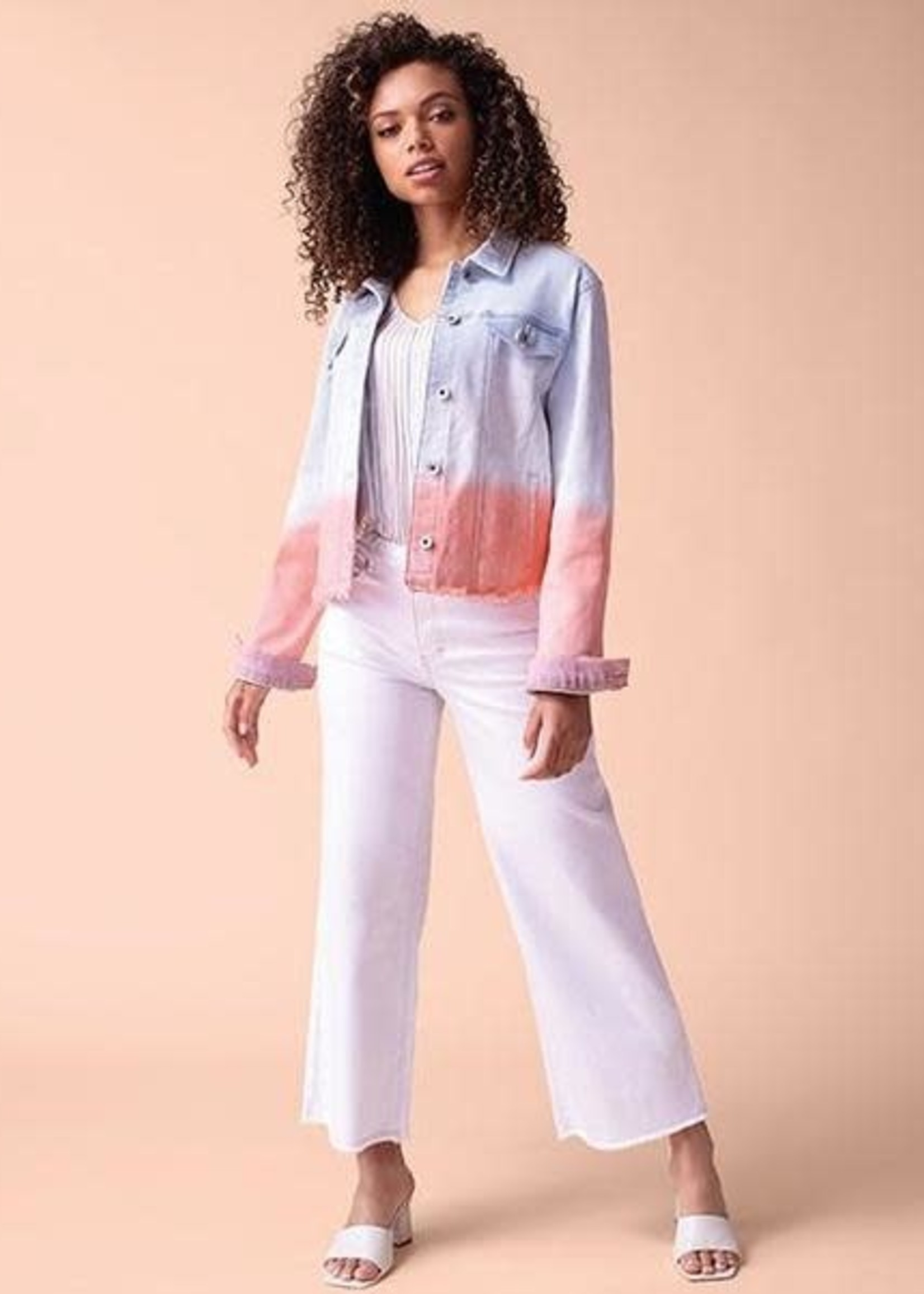 Tribal Tribal Dipped-Dyed Jean Jacket