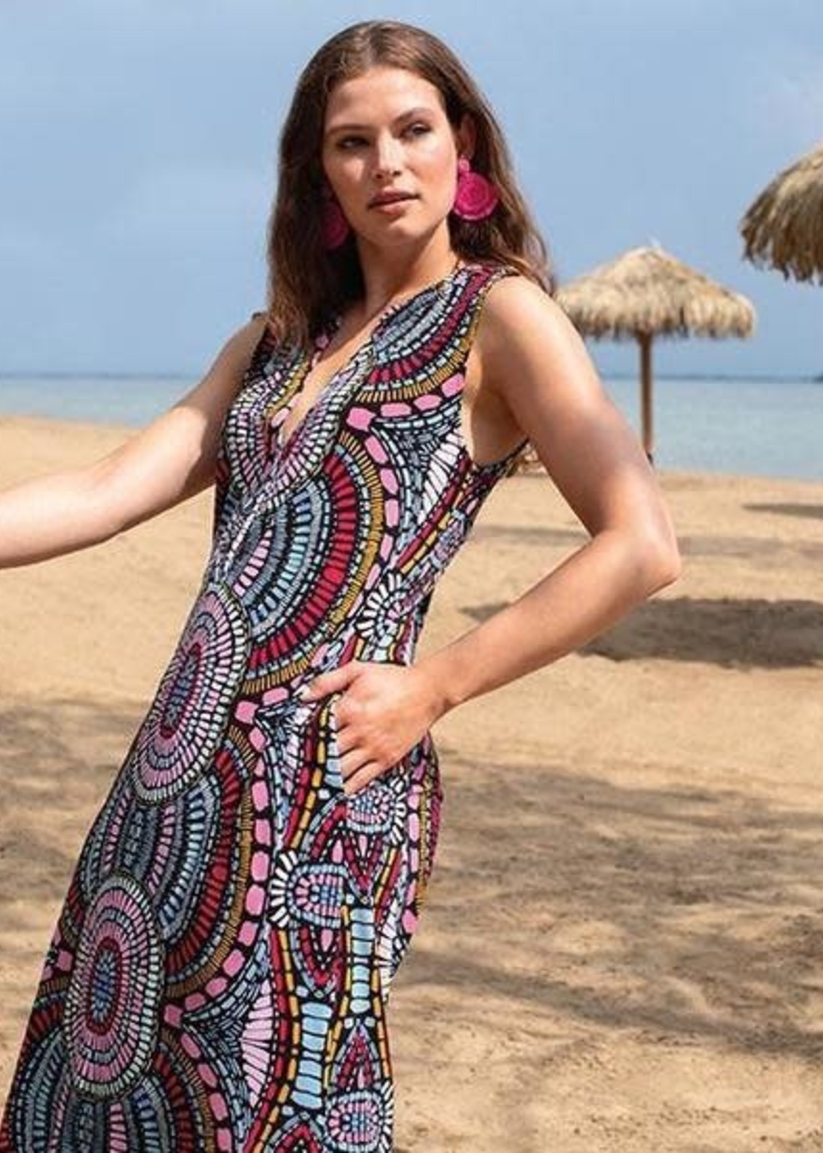 Tribal Tribal Sleeveless Maxi Dress