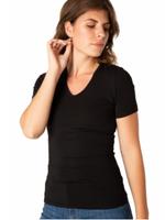 Yest Yest Yemi V-neck T-shirt Black