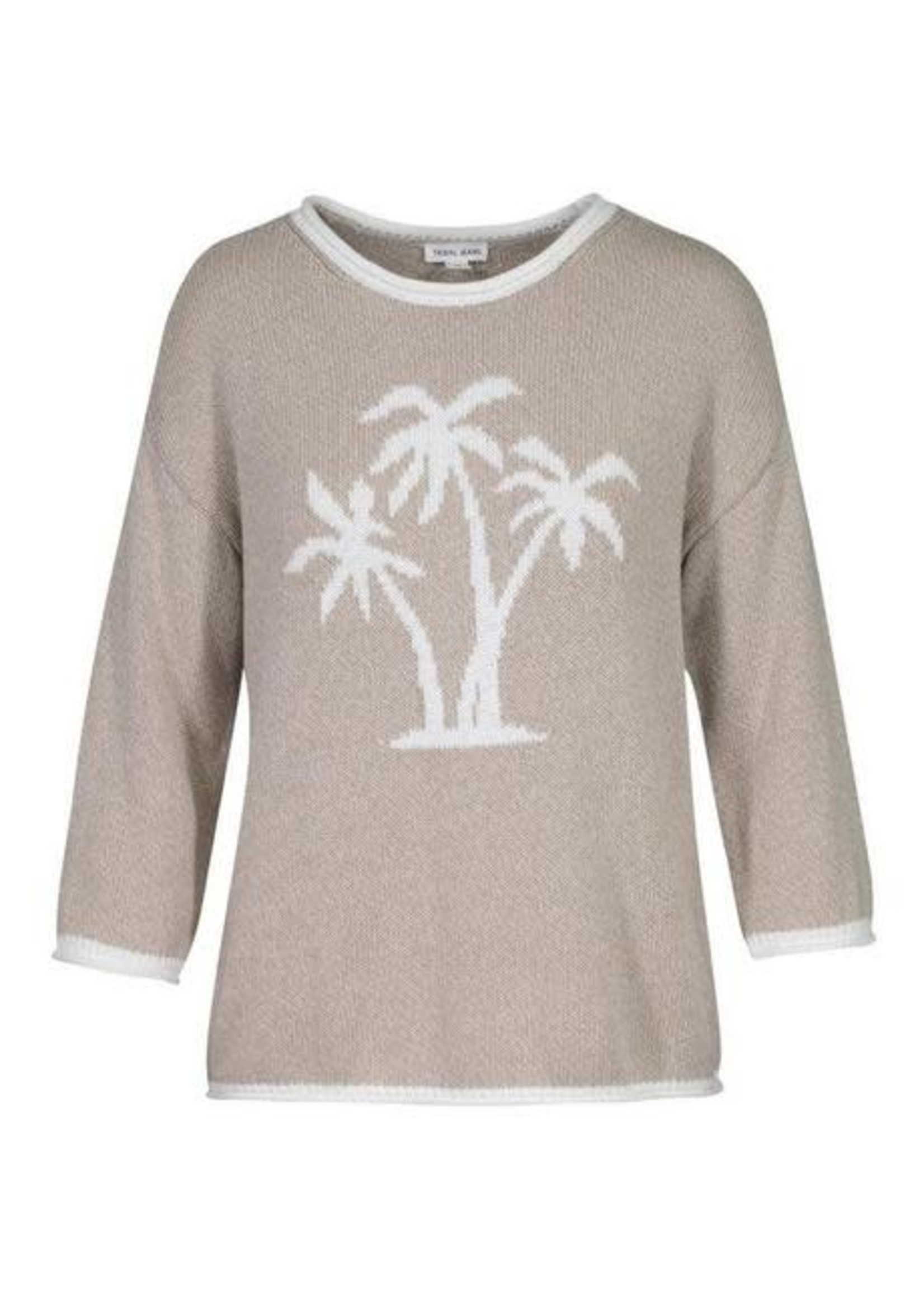 Tribal Tribal 3/4 Sleeve Sweater w/Jaquard