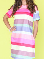 Funsport Funsport Rainbow Stripe Knit Dress