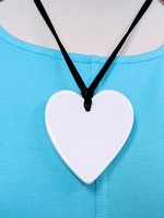 Zsiska Large Heart Pendant, White