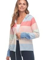 FDJ French Dressing FDJ Rainbow Stripe Hoodie Cardigan